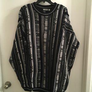 Men's retro sweater, Coogi style